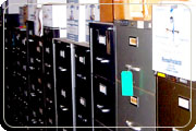 Row of file cabinets